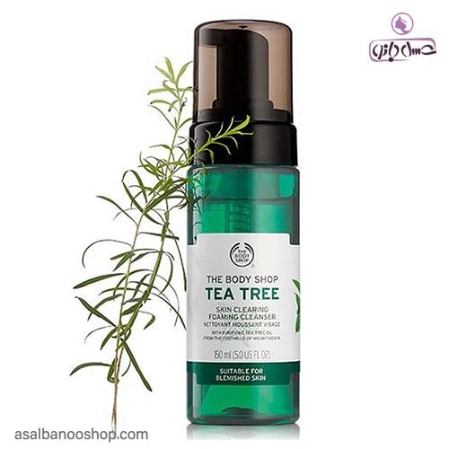فوم شست و شو چای TEA TREE بادی شاپ2